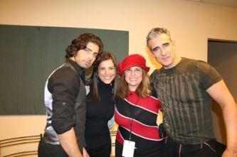 Jen Carlos, Gaby Espino, yo Miguel Varoni
