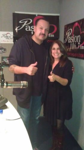 Con Pepe Aguilar en Unvision chicago