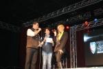 Los locutores David Miranda y Vicky Aguilera compartieron escenario con Daniela Castro.