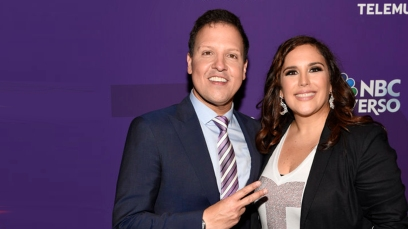 "NBCUNIVERSAL CABLE UPFRONT -- ""2015 Hispanic Group Upfront at Jazz at Lincoln Center on Tuesday, May 12, 2015"" -- Pictured: (l-r) Raul Gonzalez ""La Sorpresa de Tu Vida"", Angelica Vale ""La Sorpresa de Tu Vida"" -- (Photo by: Dave Kotinsky/NBCUniversal Cable Entertainment)"